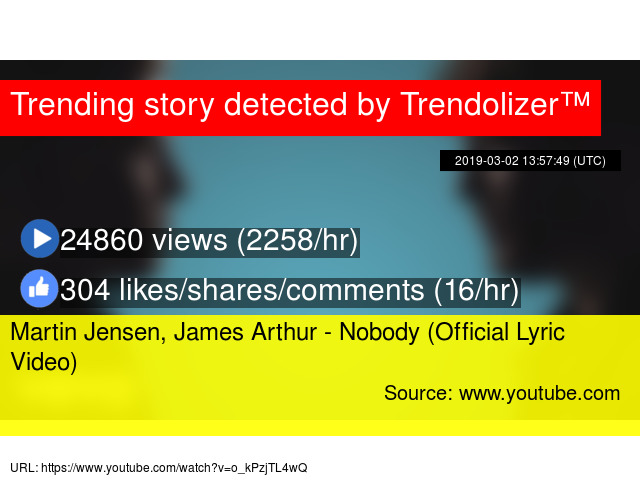 Martin Jensen James Arthur Nobody Official Lyric Video There's something 'bout you, you steal the room i can't believe i've never seen nobody, nobody like you i'm freaking out, just tryna play it cool i can't believe i've never seen nobody, nobody like you. martin jensen james arthur nobody official lyric video