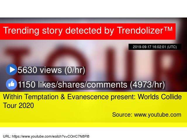 Evanescence Tour 2020.Within Temptation Evanescence Present Worlds Collide Tour